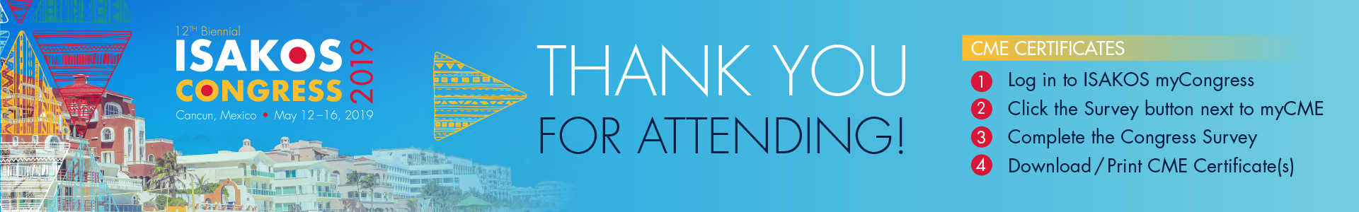 2019 ISAKOS Congress: Thank You!